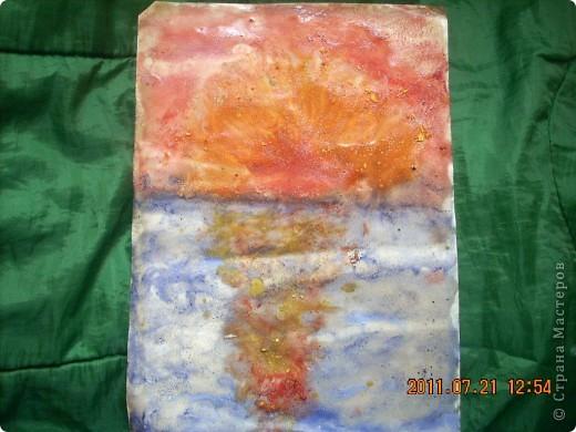 Берег, море, небо, звёзды... Рисовал сынишка, ему 4 года. фото 3