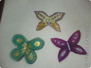 Вот такие миленькие и маленькие бабочки у меня получились! )) фото 1