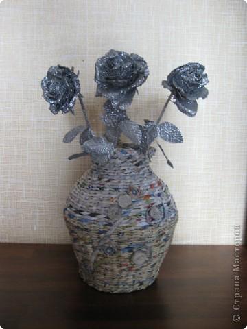 Напольная ваза на дачу по заказу мужа фото 2