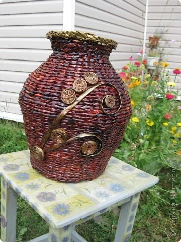 Напольная ваза на дачу по заказу мужа фото 1