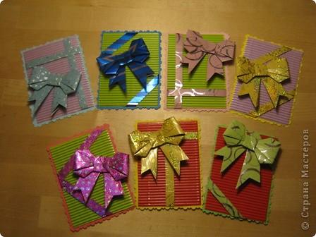 очень понравились бантики в технике оригами. Вот и получилась такая серия. фото 1