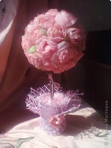 Нежное розовое дерево из органзы! фото 1