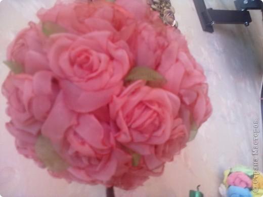 Нежное розовое дерево из органзы! фото 2
