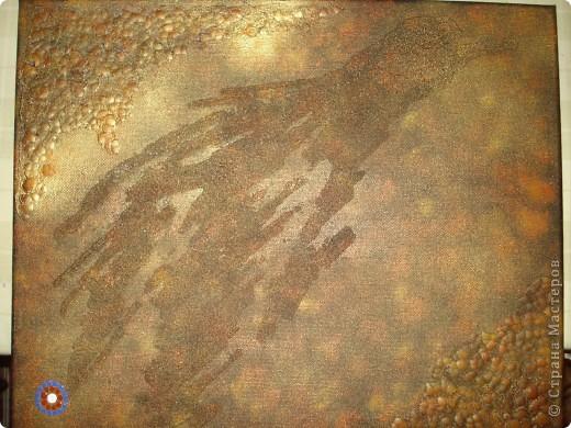 Вот такое панно получилось по эскизу Солнышки.В этот раз и фон,и сама роспись сделаны акриловыми красками. фото 4