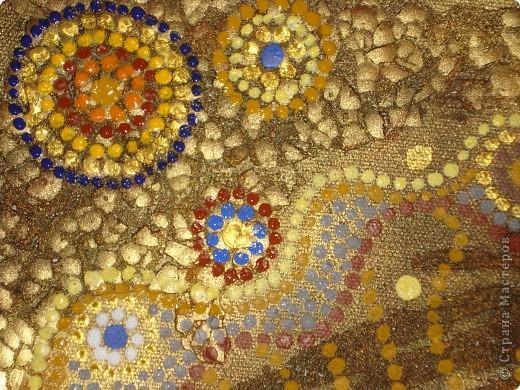 Вот такое панно получилось по эскизу Солнышки.В этот раз и фон,и сама роспись сделаны акриловыми красками. фото 6
