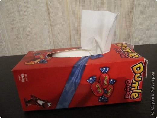 Коробка для салфеток. Первая работа. фото 2