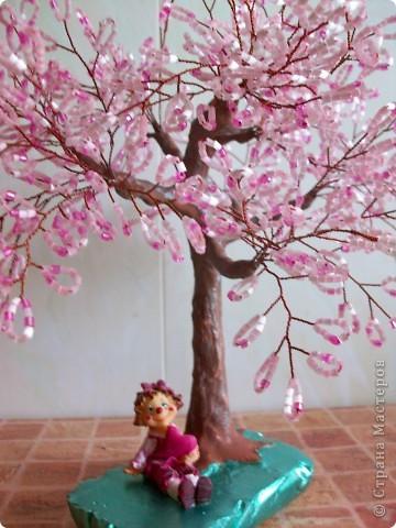 Здравствуйте мастера и мастерицы, вот и снова я выставляю на ваш суд новое дерево.)) САКУРА. фото 1