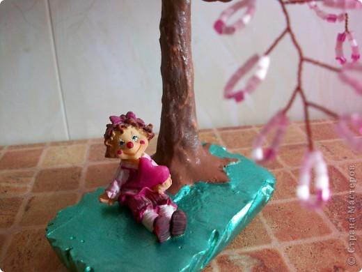 Здравствуйте мастера и мастерицы, вот и снова я выставляю на ваш суд новое дерево.)) САКУРА. фото 3