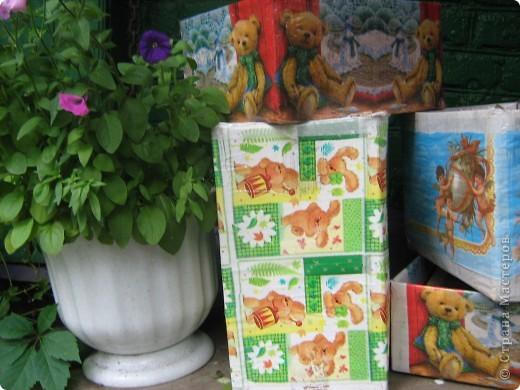 Под впечатлением от техники декупаж изготовились вот такие коробочки. фото 1