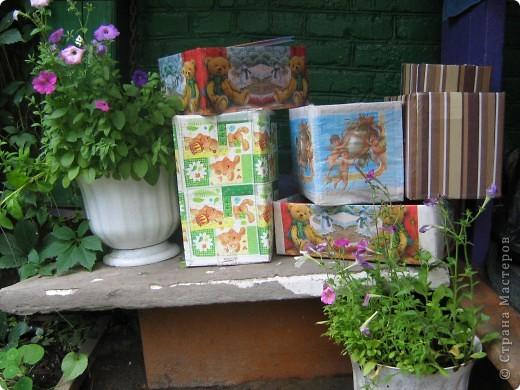 Под впечатлением от техники декупаж изготовились вот такие коробочки. фото 2