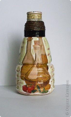 Была обычная пластиковая бутылка 0,3 л из-под уксуса... И решила я ее преобразить немного:) фото 1