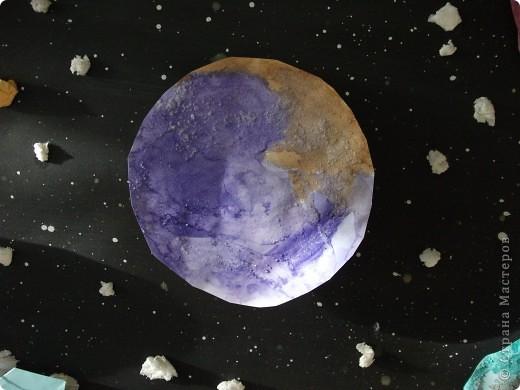 Космический пейзаж(гуашь и соль) фото 4