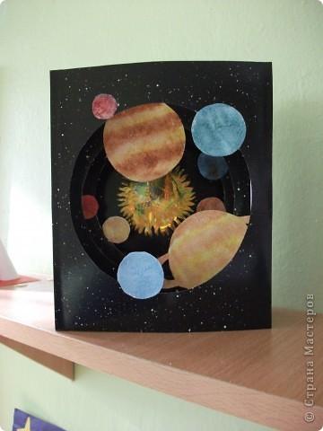 Космический пейзаж(гуашь и соль) фото 6