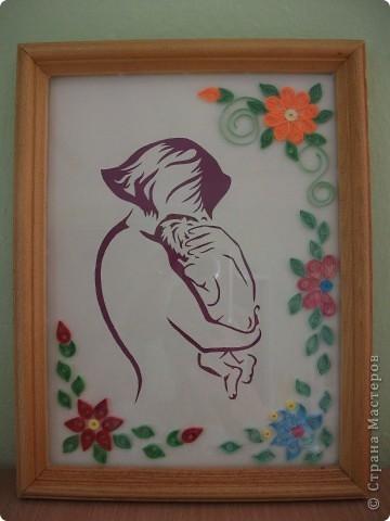 Фоток, картинки мать с ребенком на руках в стиле квиллинг
