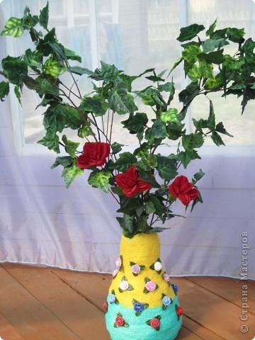 напольные вазы с искусственными деревьями(береза,клён) фото 3