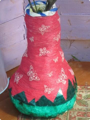 напольные вазы с искусственными деревьями(береза,клён) фото 4