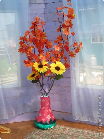 напольные вазы с искусственными деревьями(береза,клён) фото 5