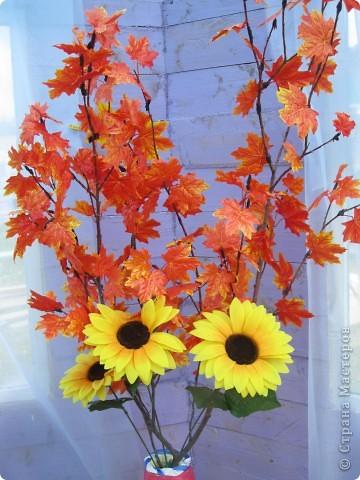 напольные вазы с искусственными деревьями(береза,клён) фото 6