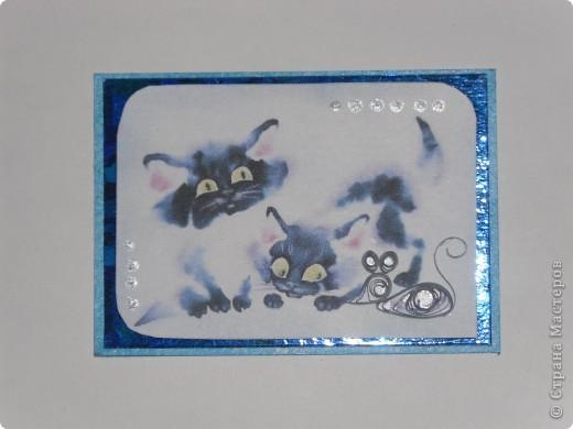 Очень понравились вот такие котики. Получилась серия.  Может понравится любителям кошек. Я знаю, таковые в СМ имеются. Автор рисунков Олег Иванов. Должна Даренке. Может еще кому? Не прячьтесь, отзовитесь. фото 6