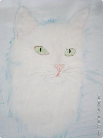 этих котят я рисовала  акриловыми красками на специальной бумаге...тут они в рамочке. фото 2