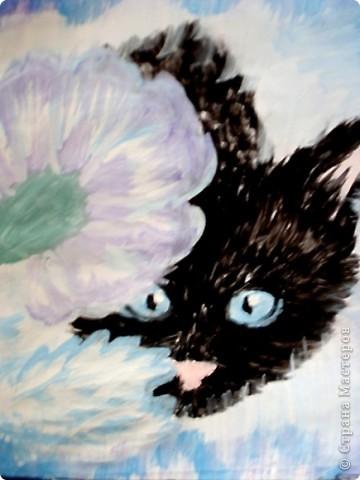 этих котят я рисовала  акриловыми красками на специальной бумаге...тут они в рамочке. фото 5