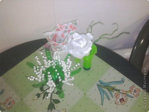 Вот такая розочка родилась вчера под впечатлением работ Мастериц ))) фото 1