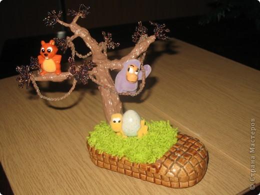 Дерево из бисера,.. вернее из его остатков)