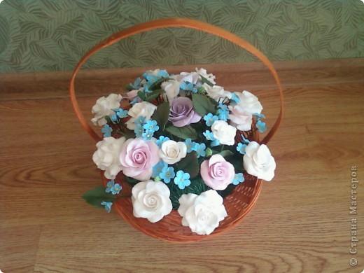 Розы с незабудками фото 3