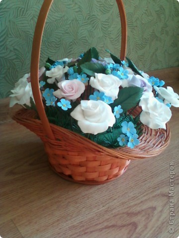 Розы с незабудками фото 2