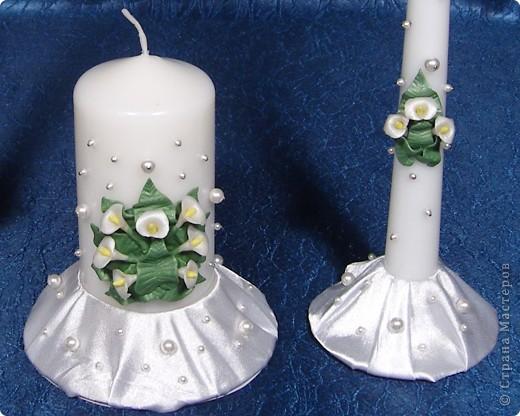 """Свадебные свечи """"Каллы"""" фото 2"""