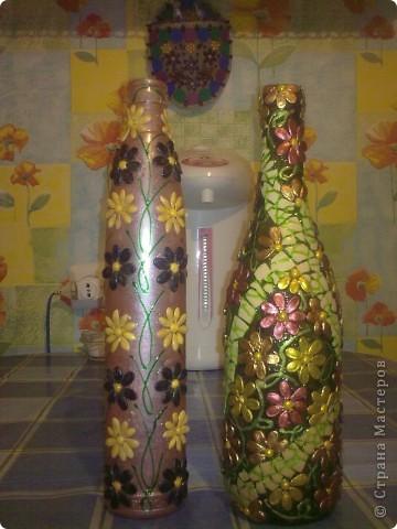 обычные бутылочки расписаны акриловой краской фото 20