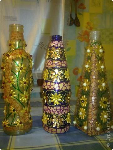 обычные бутылочки расписаны акриловой краской фото 19