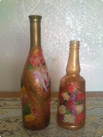 обычные бутылочки расписаны акриловой краской фото 22