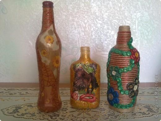 обычные бутылочки расписаны акриловой краской фото 21