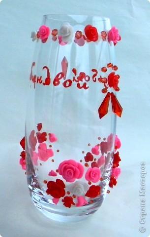 Ваза в подарок на рубиновую свадьбу фото 1