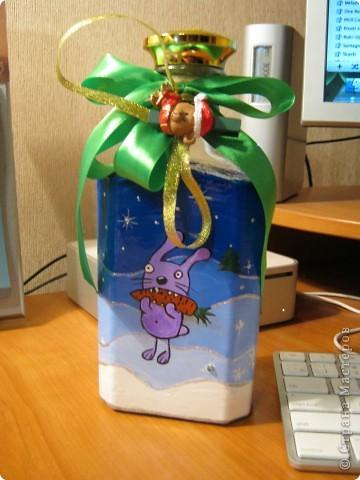 Ну это не совсем декупаж...просто расписала на Новый Год родственникам в подарок. фото 1