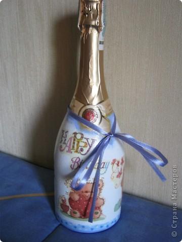 Ну это не совсем декупаж...просто расписала на Новый Год родственникам в подарок. фото 5