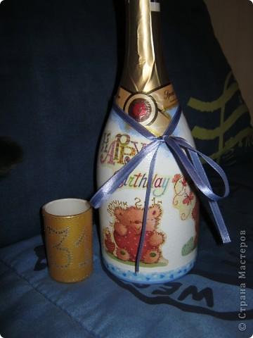 Ну это не совсем декупаж...просто расписала на Новый Год родственникам в подарок. фото 8