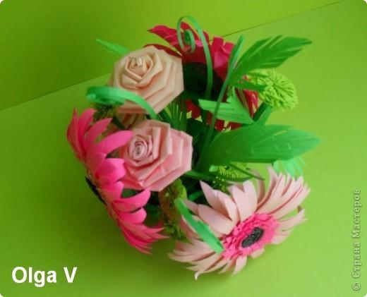 Такой сувенир в стеклянной вазочке можно сделать в подарок ко дню рождения или к празднику.  фото 4