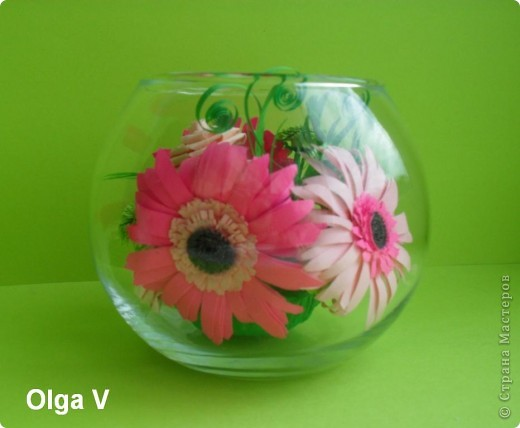 Такой сувенир в стеклянной вазочке можно сделать в подарок ко дню рождения или к празднику.  фото 8