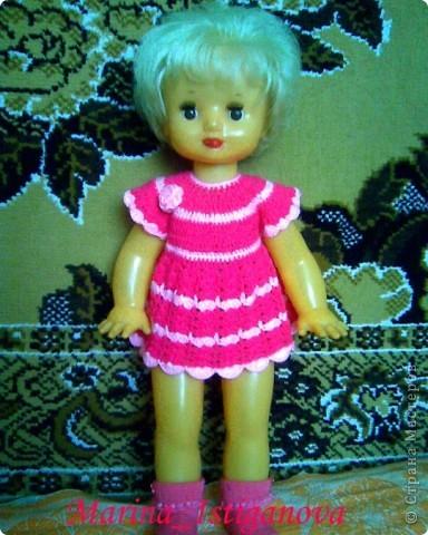 Платье, связанное крючком фото 1