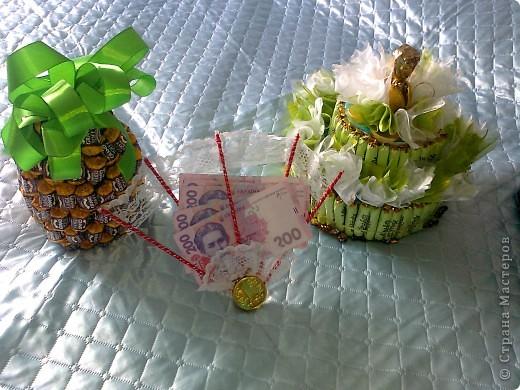 Бутылочка,веер с денюжкой и тортик. фото 4