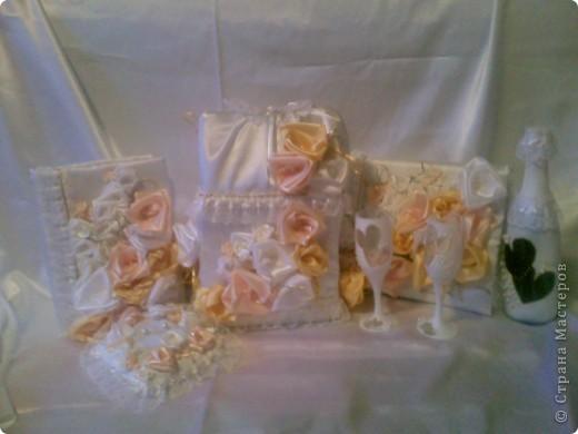 Свадебный набор-ЗОЛОТАЯ РОЗА фото 1