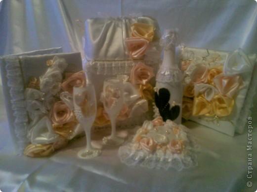 Свадебный набор-ЗОЛОТАЯ РОЗА фото 8