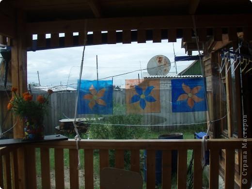Ванька-огородничий встречает нас на даче. Ванька  от того, что дача в с. Иван-Озеро. Идея  - с сайта, правда в оригинале он без ног и стоит на траве.   фото 19