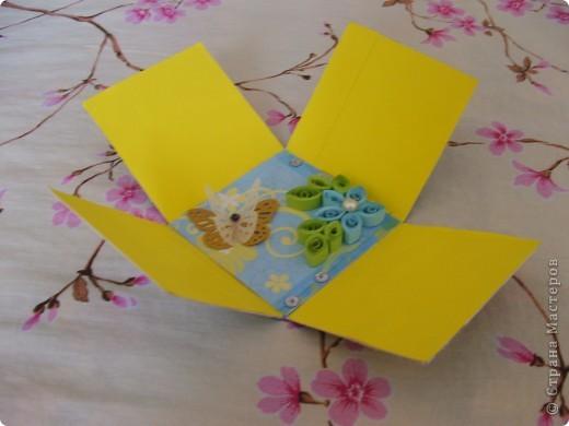 Урааааааааааааааааа!!! Моя первая коробочка готова!!!!!!!!!!!!!  Делала, делала и наконец то сделала!!! Вот она моя красавица!(ну не совсем красавица)))))) Получилось немного корявенько, но я всё равно очень рада!!!  фото 3