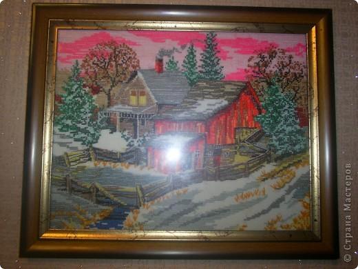 картина Домик в деревне