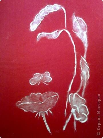 Картина тополиным пухом... фото 1