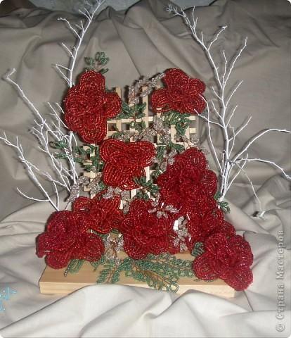 Поделка изделие Бисероплетение Деревья и Цветы Бисер фото 5.