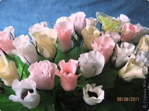 Вот такой букет из 39 конфетных бутонов роз у меня получился. фото 3